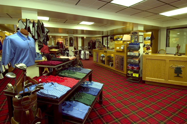 Interior of the pro shop at Toftrees Golf Resort