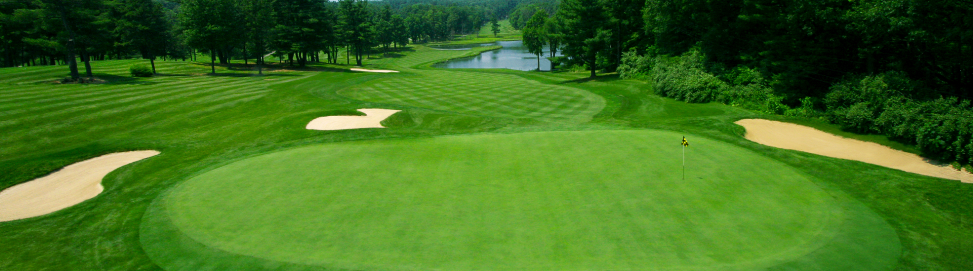 View of one of the holes on the course at Toftrees