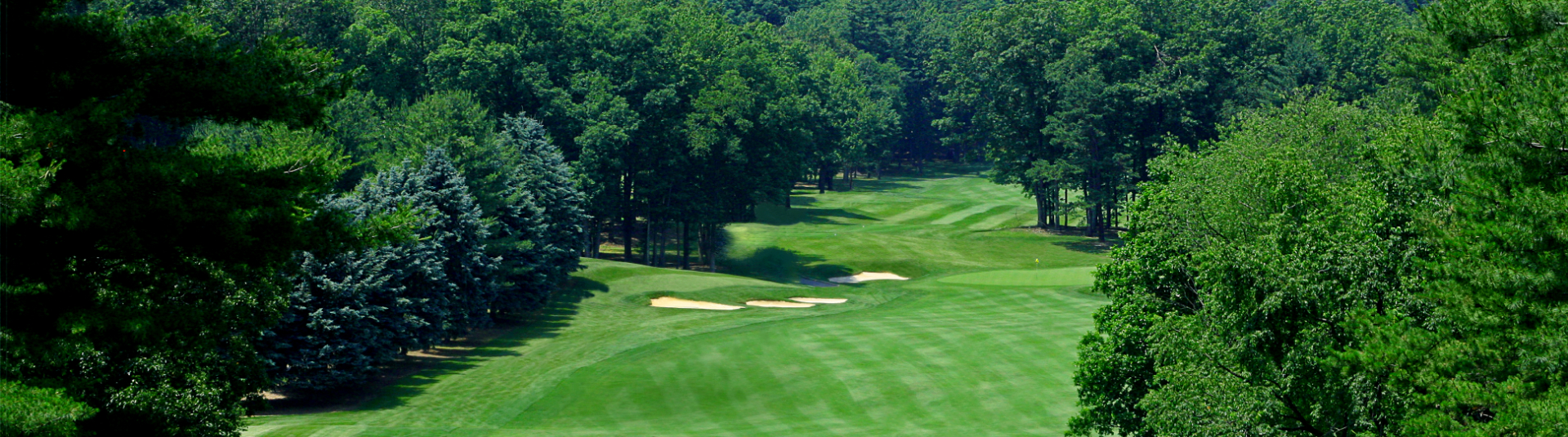 View down the fairway at Toftrees Golf Resort